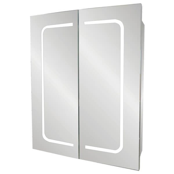 Frontline Cannes 600 x 700mm Double Door LED Mirrored Cabinet