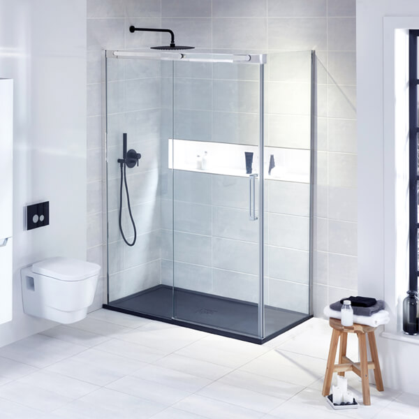 Frontline Aquaglass+ Linear 8mm Sliding Door - More Dimension Available