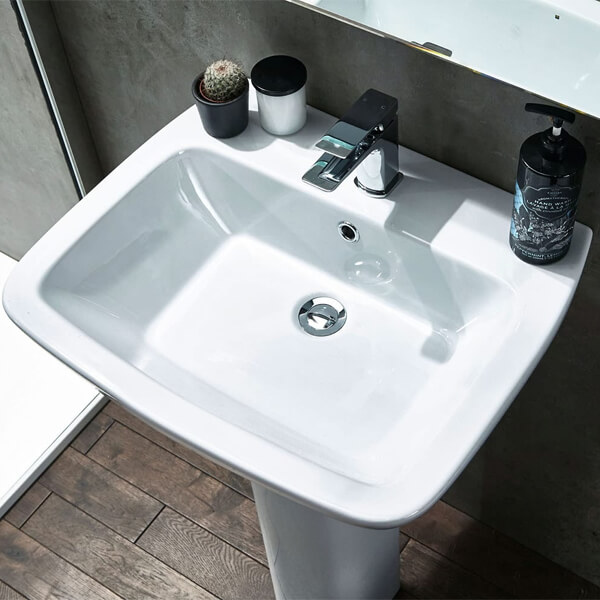 Alternate image of Frontline Piccolo 570mm 1 Tap Hole Basin With Full Pedestal