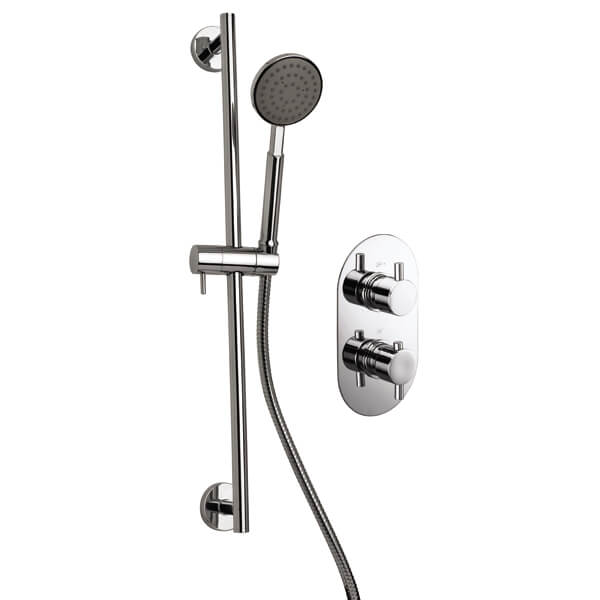 Frontline Ballini Twin Concealed Thermostatic Shower Pack