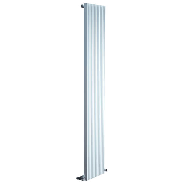 Frontline Fusion 324 x 1800mm Flat Single Column Designer Radiator White and Anthracite Finish Available