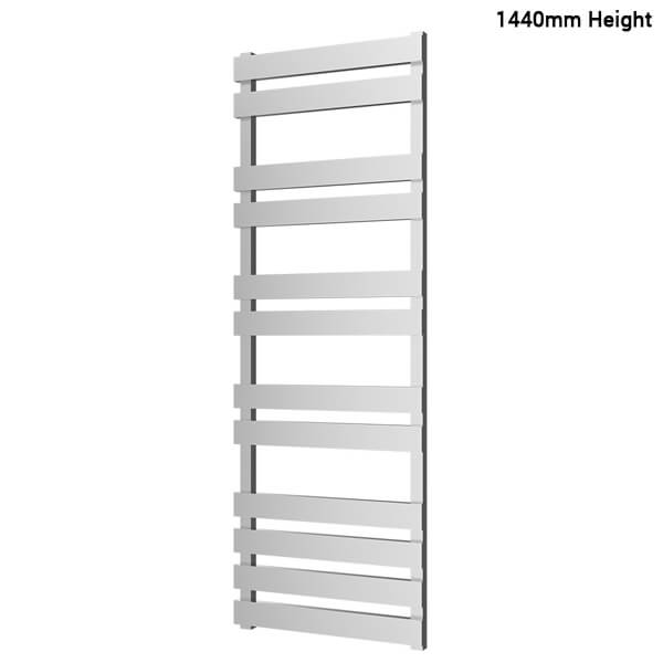 Additional image of Radox Torro 500mm Width Ladder Radiator Chrome - Height 900 -1170 - 1440mm