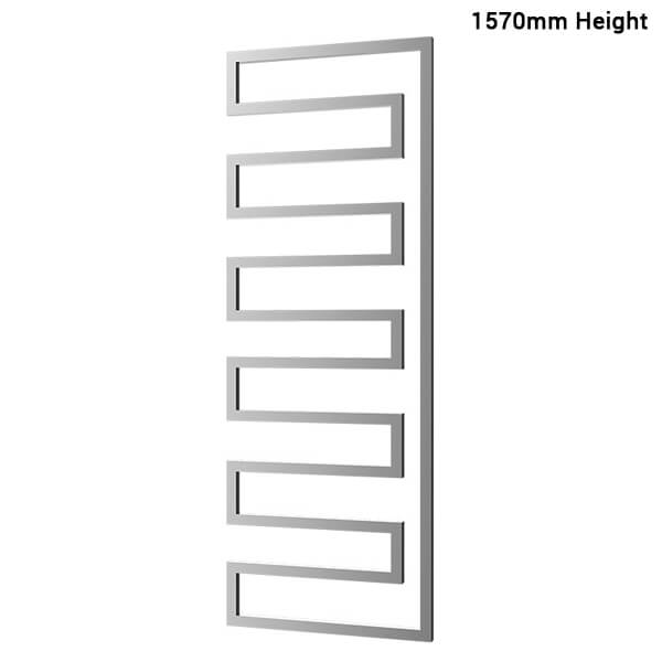 Additional image of Radox Essence 580mm Width Towel Rail Stainless Steel - Height 730 - 1010 - 1570mm