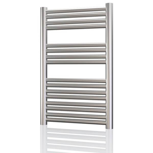 Radox Premier XL Flat 600mm Wide Stainless Steel Towel Rail - Height 800 To 1800mm