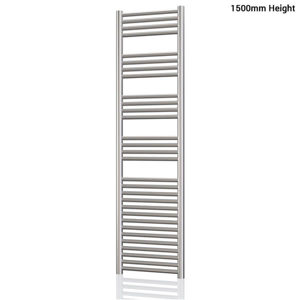 Additional image of Radox Premier XL Flat 600mm Wide Stainless Steel Towel Rail - Height 800 To 1800mm