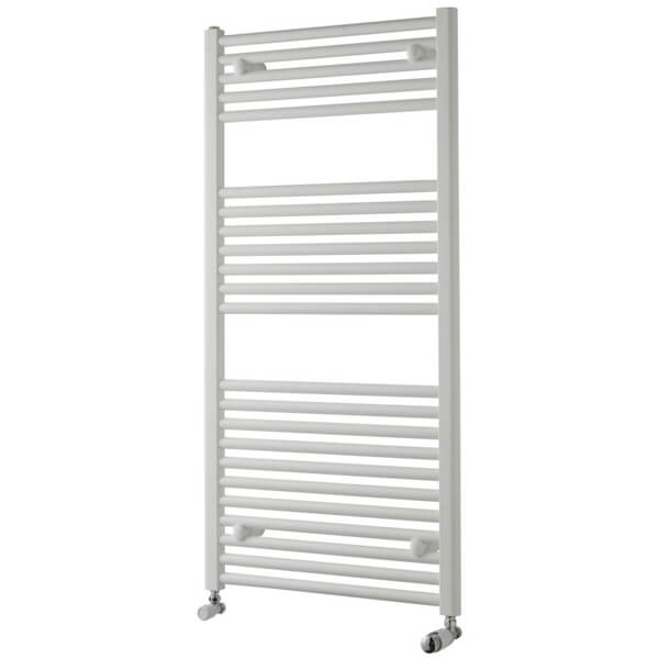 Towelrads Pisa 400mm Wide White Straight Towel Rail - More Heights Available