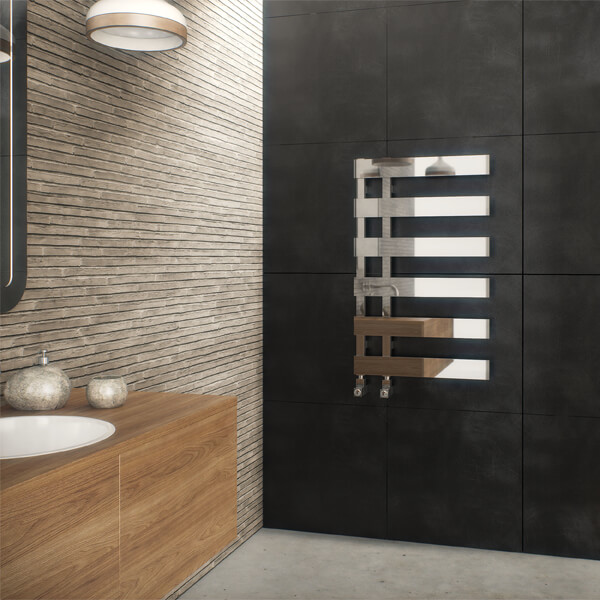 Additional image of Radox Dora 500mm Width Designer Radiator Chrome - Height 800 - 1235mm