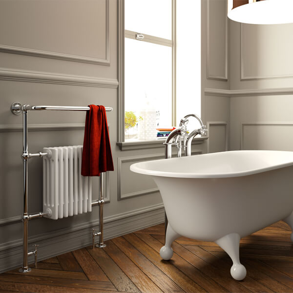 Additional image of Radox Taurus Columbine 965mm Height Traditional Towel Rail - Width 495 - 673mm