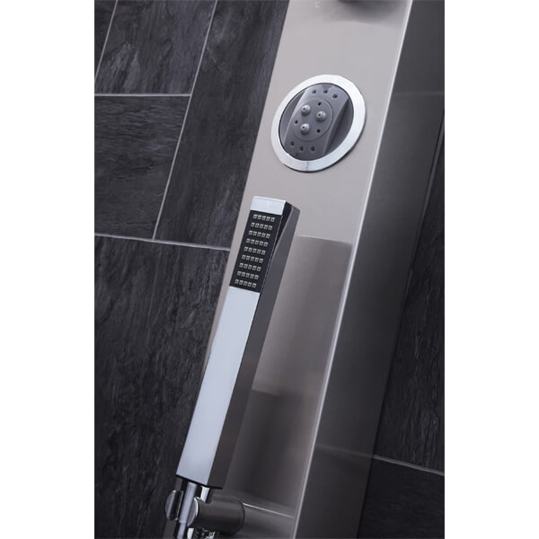 Alternate image of Frontline Emme Thermostatic Shower Panel With Built-In Massage Jets