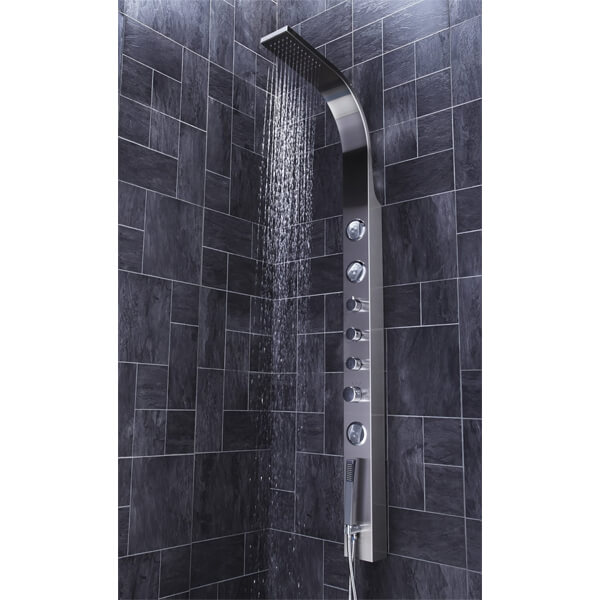 Additional image of Frontline Emme Thermostatic Shower Panel With Built-In Massage Jets